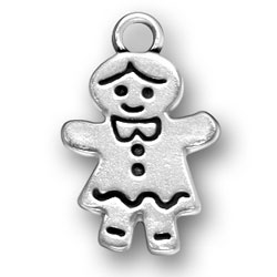 Sterling Silver Gingerbread Woman Charm