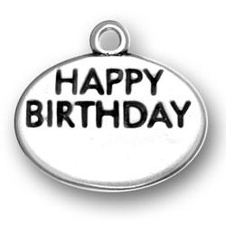 Sterling Silver Happy Birthday Charm