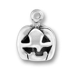 Sterling Silver Jack O'Lantern Charm