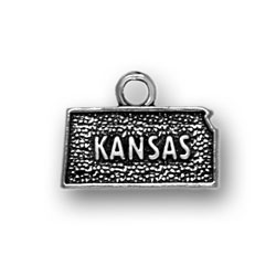 Sterling Silver Kansas Charm