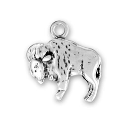 Sterling Silver Large Buffalo Charm