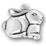 Sterling Silver Large Rabbit Charm