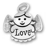 Sterling Silver Love Angel Charm
