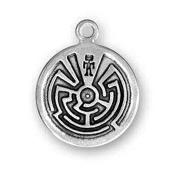 Sterling Silver Man In Maze Charm