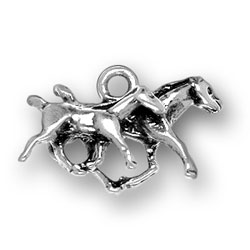 Sterling Silver Mare and Colt Charm