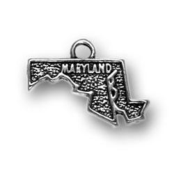 State of Maryland Charm Maryland Bracelet Maryland Bead Charm Maryland Dangle Charm Maryland Charm fits European and Brand Bracelets