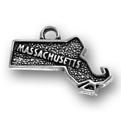 Sterling Silver Massachusetts Charm