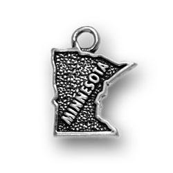 Sterling Silver Minnesota Charm