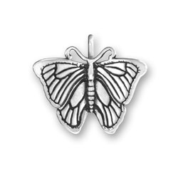 Sterling Silver Morpho Butterfly Charm