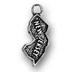Sterling Silver New Jersey Charm