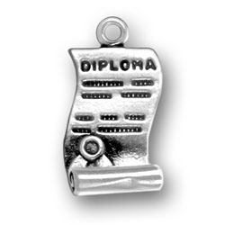 Sterling Silver Open Diploma Charm