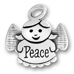 Sterling Silver Peace Angel Charm