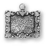 Sterling Silver Picture Frame Charm