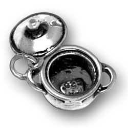 Sterling Silver Pot with Lid Charm