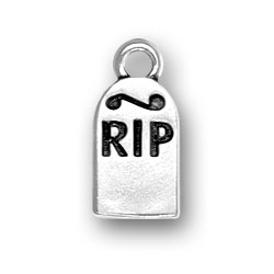 Sterling Silver RIP Headstone Charm