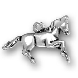 Sterling Silver Running Horse Charm