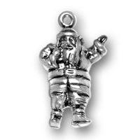 Sterling Silver Santa Charm