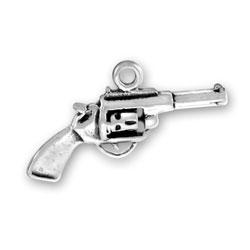 Sterling Silver Six Shooter Gun Charm