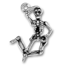 Sterling Silver Skeleton Charm