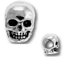Sterling Silver Skull Bead