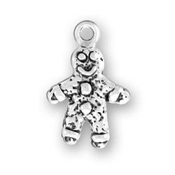 Sterling Silver Small Gingerbread Man Charm