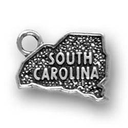Sterling Silver South Carolina Charm