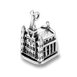 Sterling Silver St. Louis Cathedral Charm