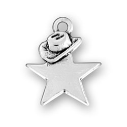 Sterling Silver Star Hat Charm