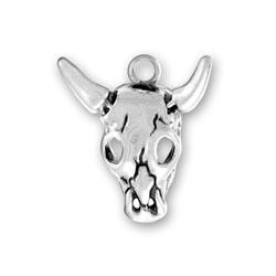 Sterling Silver Steer Skull Charm