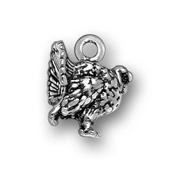 Sterling Silver Turkey Charm