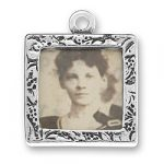 Sterling Silver Two Sided Picture Frame Charm
