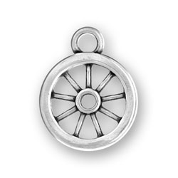 Sterling Silver Wagon Wheel Charm