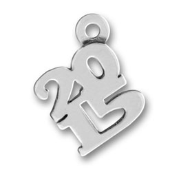 Sterling Silver 2015 Charm
