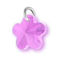 Violet Crystal Flower Charm