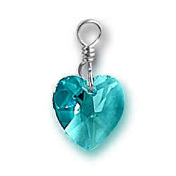 Zircon Swarovski Crystal Heart Charm