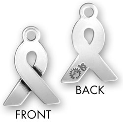 Engraved Awareness Ribbon: Personalized Charm