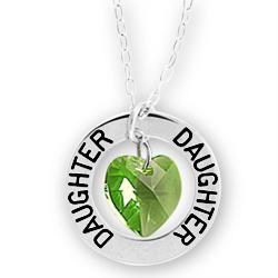 Daughter Affirmation Birthstone: Custom Name Necklace