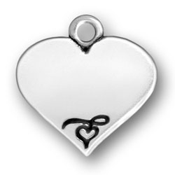 Personalized Heart Charm: Engraved