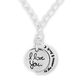 I Love You to The Moon and Back: Custom Name Necklace