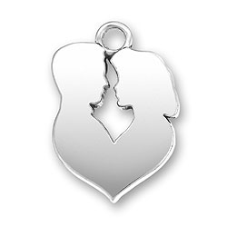 Personalized Charm: Man and Woman Engraved