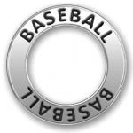 Pewter Baseball Sport Affirmation Ring