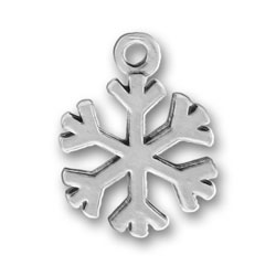 Pewter Holiday Snowflake Charm