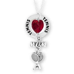 Tennis Mom Affirmation Mom Initial Necklace