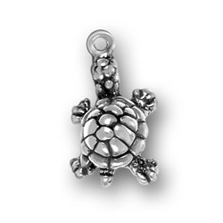 Sterling Silver Turtle Charm Image