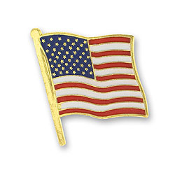 American Flag Lapel Pin Image