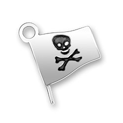 Pirate Flag Charm Image