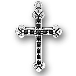 Cross With Beads Charm Image