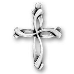 Swirl Cross Charm Image