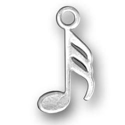 Musical 32nd Note Charm Image
