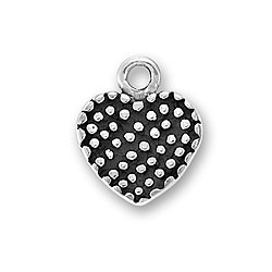 Small Pebbled Heart Charm Image